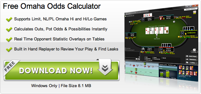 Free Omaha Odds Calculator